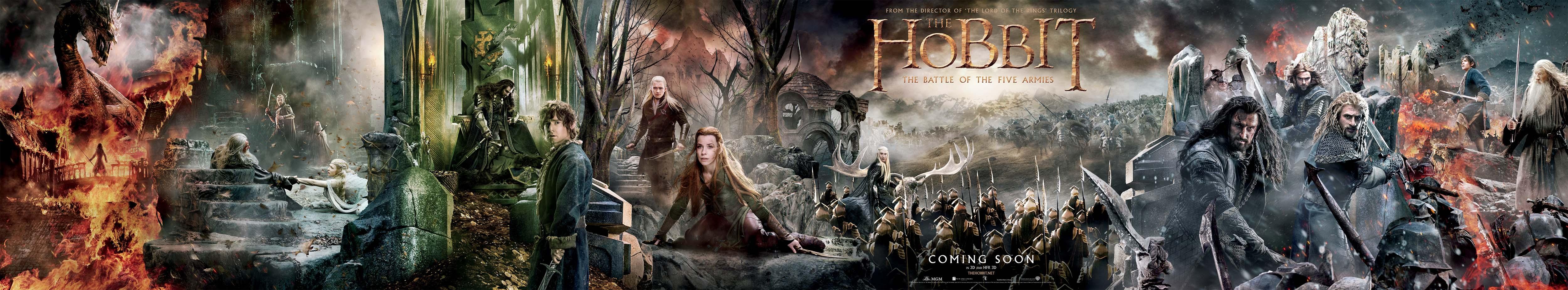 der-hobbit-die-schlacht-der-fuenf-heere-3d-widescreen-poster-collage